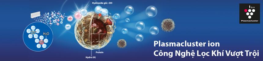 Máy lọc không khí Sharp - Công nghệ Plasmacluster Ion độc quyền lọc không khí sạch vượt trội