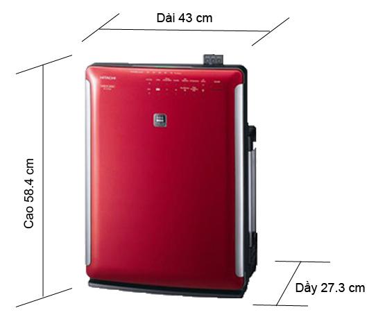 Máy lọc không khí và tạo ẩm Hitachi EP-A7000, màu sắc hiện đại, vận hành mạnh mẽ cho chất lượng không khí sạch tối đa. Diện tích sử dụng 50m2