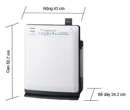 Máy lọc không khí và tạo ẩm Hitachi EP-A5000, nhập khẩu Nhật Bản. Bù ẩm, lọc bụi, khử mùi, diệt vi khuẩn. Diện tích sử dụng 33m2