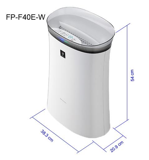 Máy lọc không khí Sharp FP-F40E, hàng chính hãng, nhập khẩu Thái Lan. Lọc bụi, khử mùi hiệu quả cho phòng 21m2
