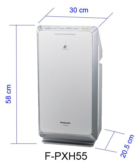 Máy lọc không khí Panasonic F-PXH55A, lọc bụi, khử mùi, kháng khuẩn, làm đẹp da. Diện tích sử dụng lớn 42m2