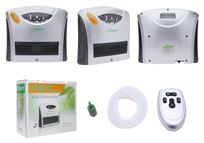 Máy lọc không khí Lifepro L318-AZ, hàng Việt Nam. Diệt khuẩn và khử mùi hiệu quả bằng ozzon và đèn UV. Khử độc thực phẩm bằng Ozon