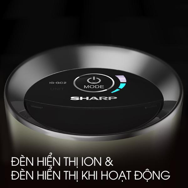 Máy lọc không khí ô tô Sharp IG-GC2E, nhập khẩu Thái Lan