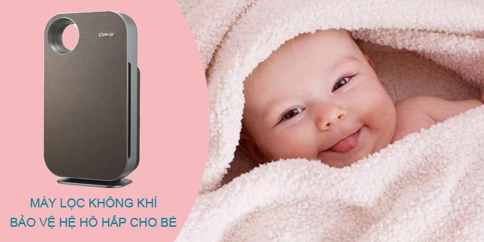 Máy lọc không khí tốt cho trẻ sơ sinh