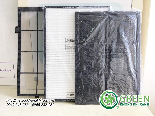 Máy lọc không khí và tạo ẩm hitachi ep-m70e có 3 bộ lọc chất lượng cao