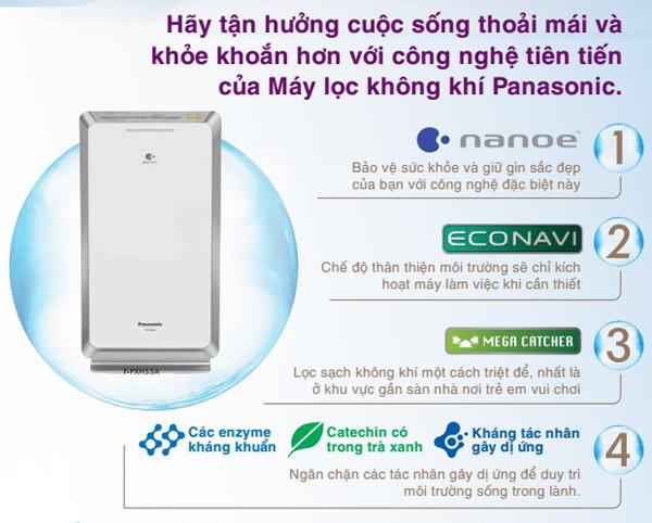 Máy lọc không khí Panasonic chính hãng được phân phối bởi công ty Nam Trung Hải