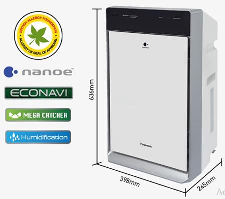 Máy lọc không khí và tạo ẩm Panasonic F-VXK70A chính hãng được phân phối bởi công ty Nam Trung Hải