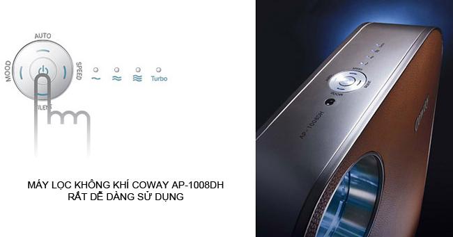 Máy lọc không khí coway ap-1008dh nhập khẩu từ Hàn Quốc dễ dàng sử dụng