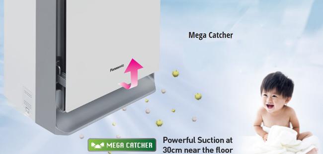 Công nghẹ MEGA CATCHER giúp làm sạch bụi bẩn