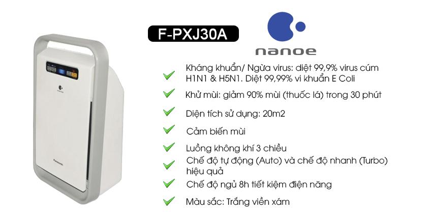 đánh giá máy lọc không khí panasonic f-pxj30a