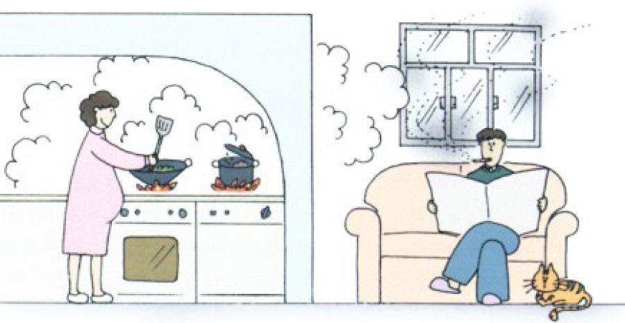 không khí trong nhà bị ô nhiễm