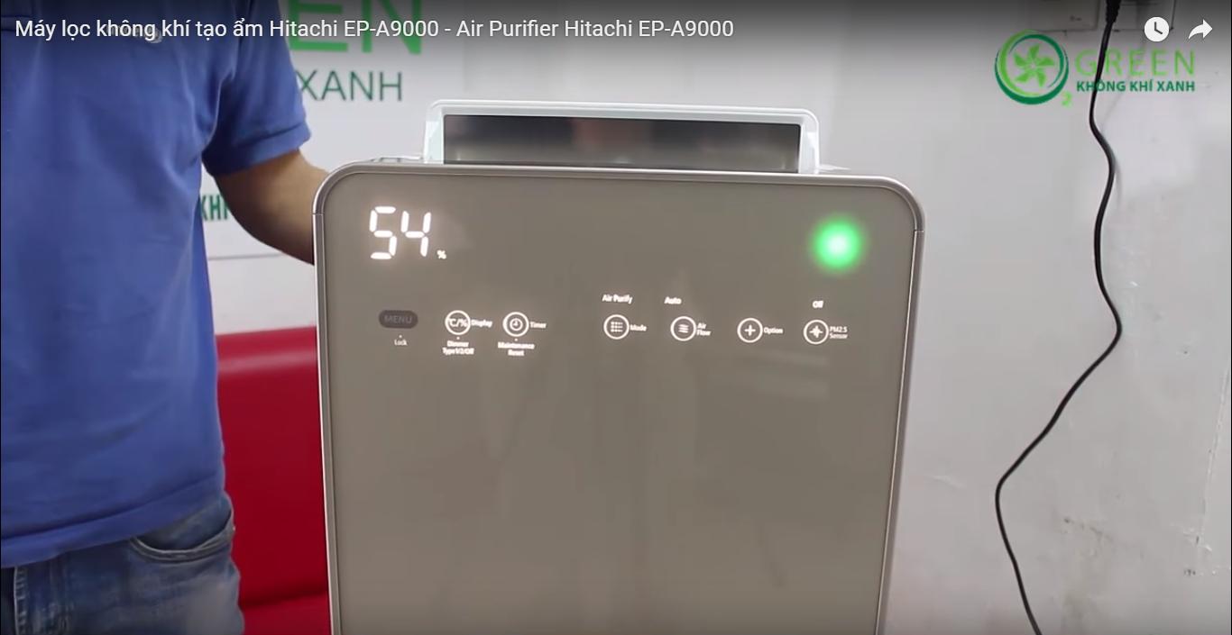 bảng điều khiển máy lọc không khí hitachi EP-A9000