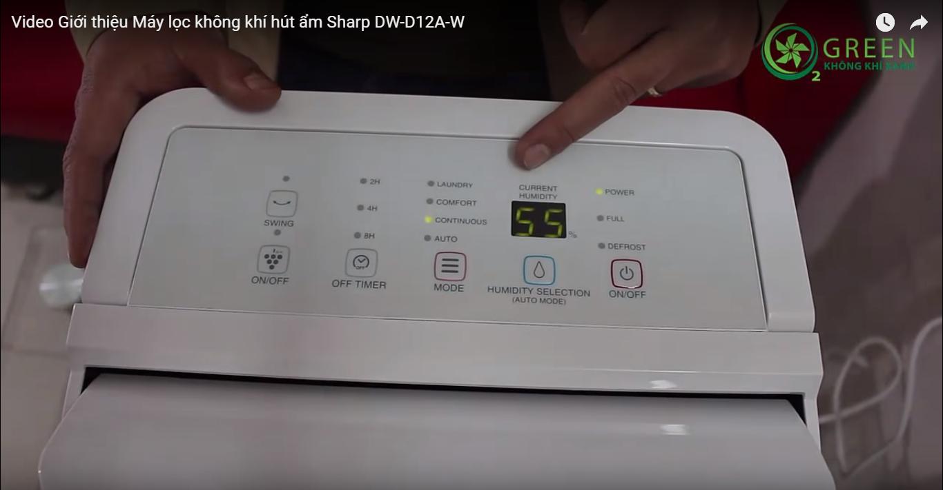 bảng điều khiển máy lọc không khí Sharp