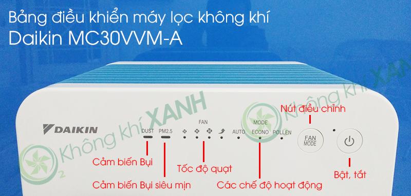 Bảng điều khiển thông minh máy lọc không khí Daikin MC30VVM-A