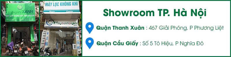 Showroom máy lọc không khí, máy hút ẩm KHÔNG KHÍ XANH tại Hà Nội