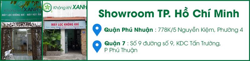 Showroom máy lọc không khí, máy hút ẩm KHÔNG KHÍ XANH tại tp. Hồ Chí Minh