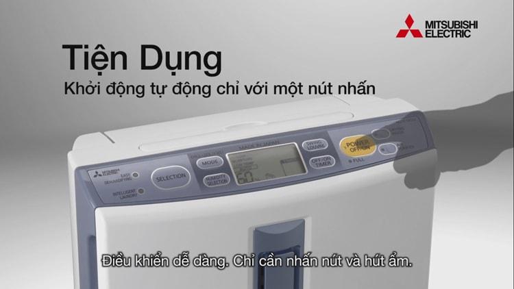 Máy hút ẩm Mitsubishi MJ-E14CG-S1-SWE dễ dàng sử dụng với bảng điều khiển thông minh
