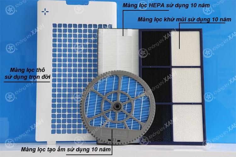 Bộ 4 màng lọc tuổi thọ lâu dài của máy lọc không khí và tạo ẩm Sharp KC-G60EV-W