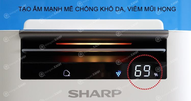 Sharp KC-G40EV-W trang bị bộ cảm biến độ ẩm thông minh giúp máy bổ sung độ ẩm phù hợp cho nhà bạn