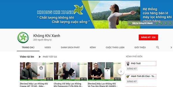 Hình ảnh nhận diện Kênh Youtube Không Khí Xanh