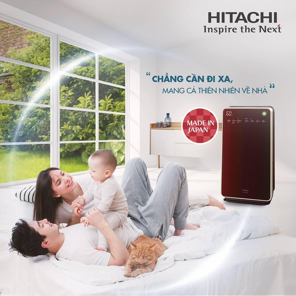 Máy lọc không khí Hitachi: Chằng cần đi xa - Mang cả thiên nhiên về nhà