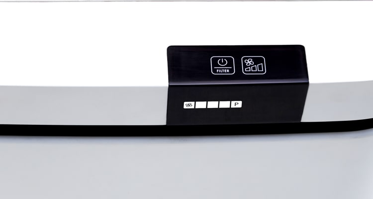Bảng điều khiển Boneco P400 với màn hình kỹ thuật số và phím bấm cảm ứng