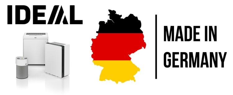 Máy lọc không khí IDEAL sản xuất tại Đức