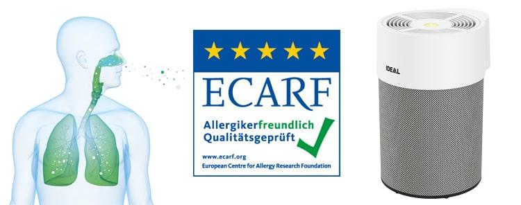 Máy lọc không khí IDEAL AP40 PRO đạt chứng nhận loại bỏ các chất gây dị ứng của Trung tâm nghiên cứu dị ứng Châu Âu (ECARF)