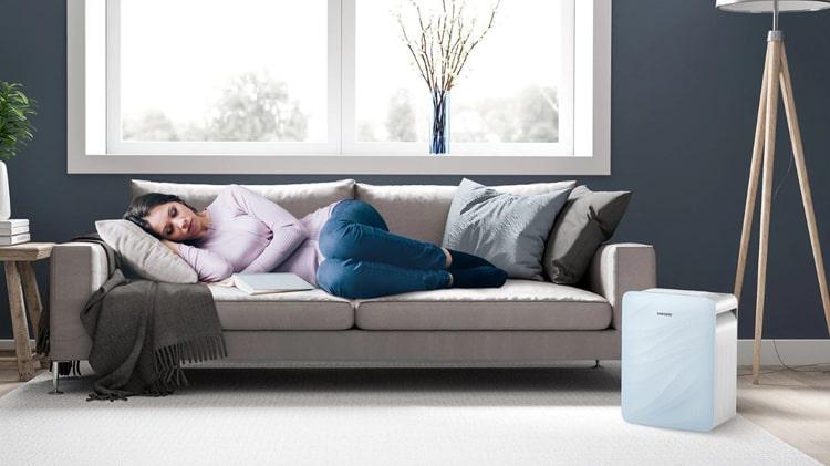 Máy lọc không khí Samsung AX40R3020WU/SV hoạt động yên lặng trong chế độ ngủ