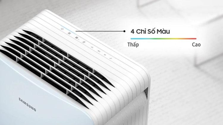 Máy lọc không khí Samsung AX40R3020WU/SV đèn báo ô nhiễm theo 4 màu sắc tùy mức độ ô nhiễm