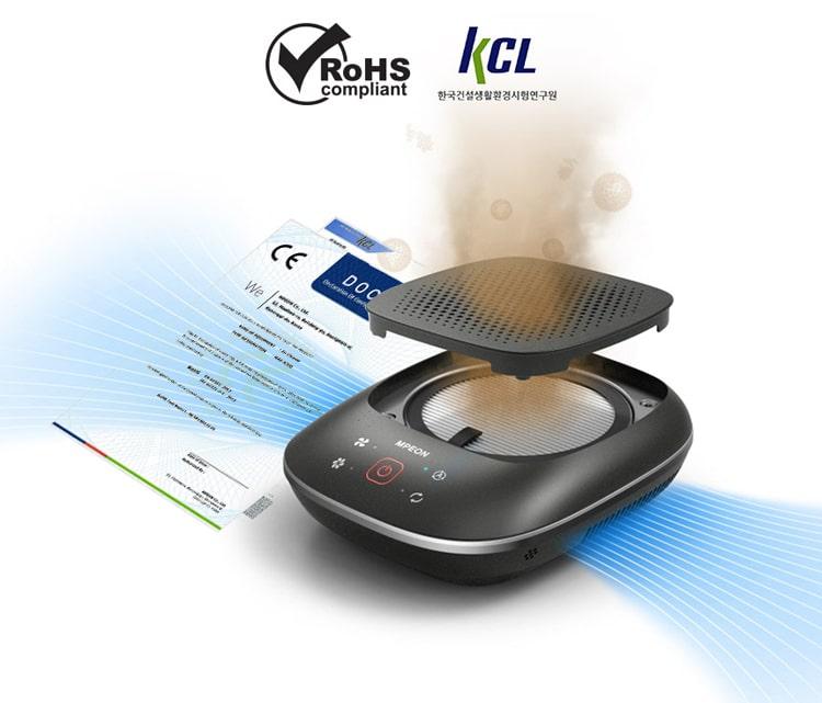 Máy lọc không khí ô tô MPEON MAP-N300 đạt chứng nhận RoHS và KCL