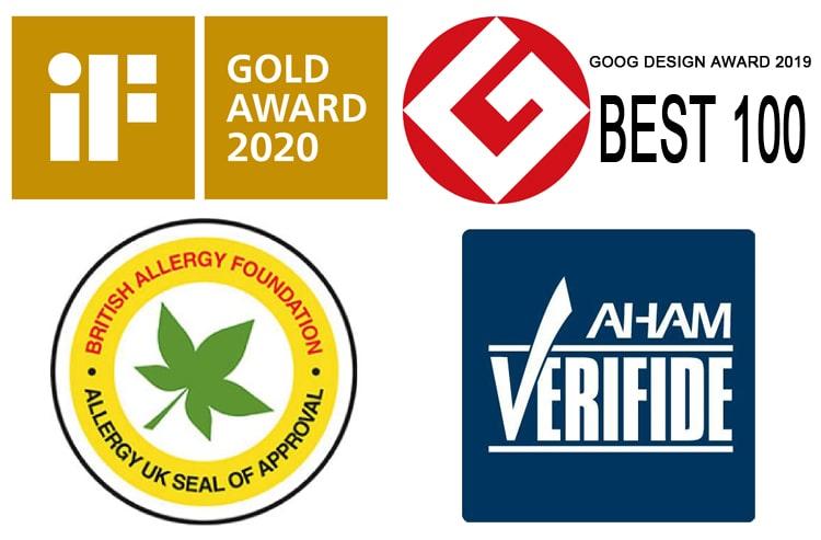 Các giải thưởng và chứng nhận của máy lọc không khí Hitachi EP-PF120J