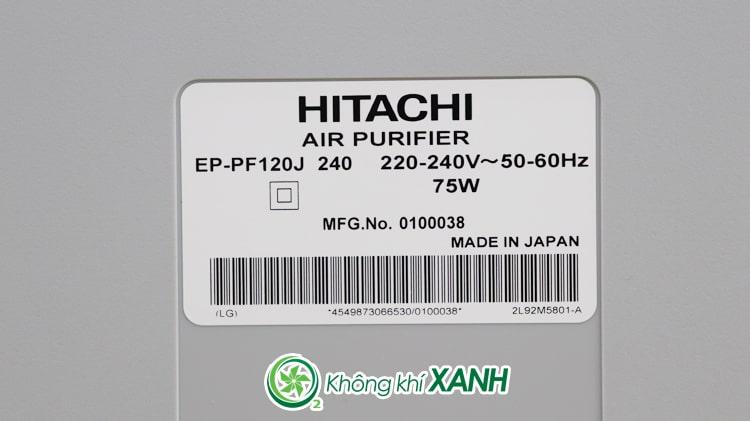 Máy lọc không khí Hitachi EP-PF120J sản xuất tại Nhật Bản