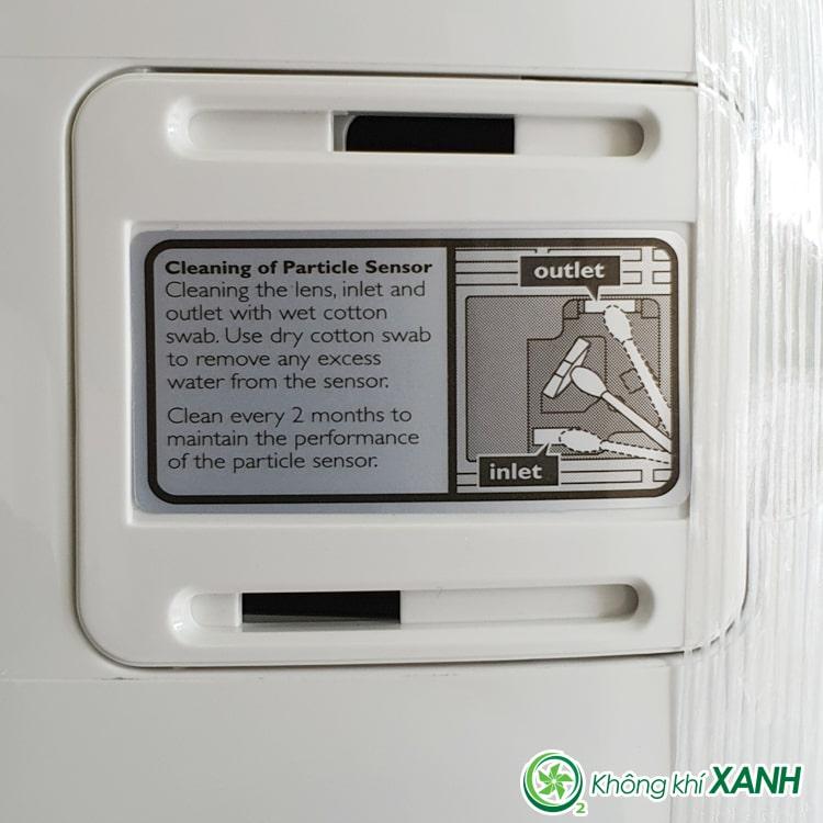 Cảm biến bụi mịn của máy lọc không khí Philips AC1215/10 series 1000 (Ảnh chụp sản phẩm thật tại Không Khí XANH)