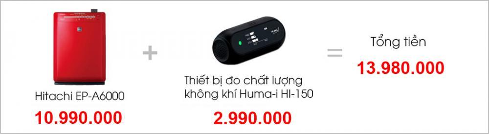 Máy lọc không khí và tạo ẩm Hitachi EP-A6000